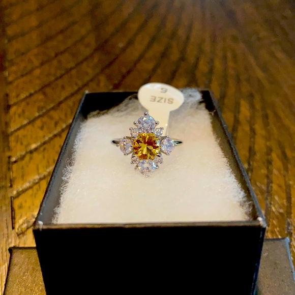 Beautiful Dreamer Yellow Topaz Ring Size 5
